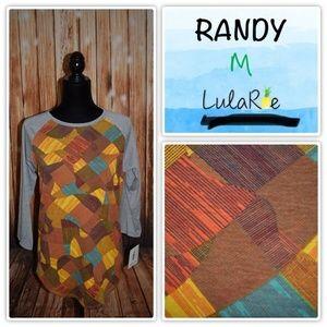Lularoe Randy Women's Medium Gray Sleeve Colorful